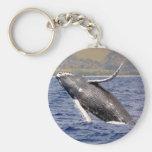 Humpback Whale Splashing Keychain