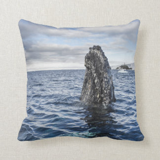 Humpback Whale Spyhops | Hope Bay, Antarctica Throw Pillow