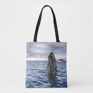 Humpback Whale Spyhops   Hope Bay, Antarctica Tote Bag