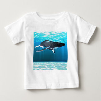 Humpback Whale Swimming Baby T-Shirt