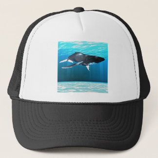 Humpback Whale Swimming Trucker Hat