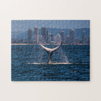 Humpback Whale Tail Fluke Off Surfers Paradise Jigsaw Puzzle