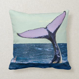 Humpback Whale Tail Fluke Off Surfers Paradise Throw Pillow