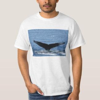 Humpback Whale tail flukes tee shirt