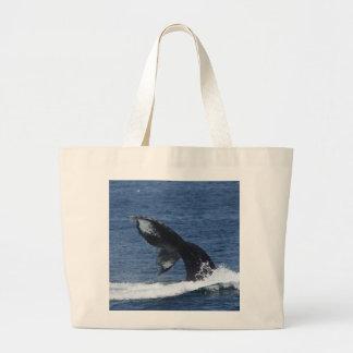 humpback whale tail flukes tote bag