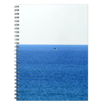 Beach Themed HUMPBACK WHALE TAIL QUEENSLAND AUSTRALIA NOTEBOOK