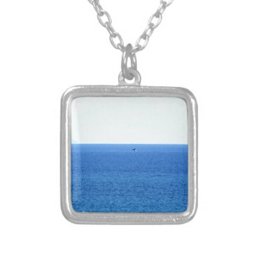 Beach Themed HUMPBACK WHALE TAIL QUEENSLAND AUSTRALIA SILVER PLATED NECKLACE