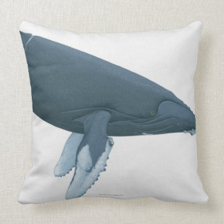 Humpback Whale Throw Pillow