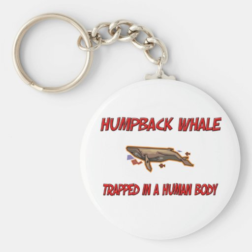 Humpback Whale trapped in a human body Key Chain