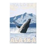 Humpback Whale - Valdez, Alaska Stretched Canvas Print
