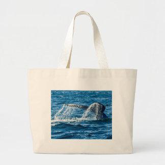 Humpback Whale Washington State Large Tote Bag