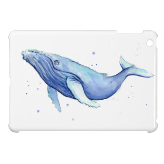 Humpback Whale Watercolor Painting iPad Case