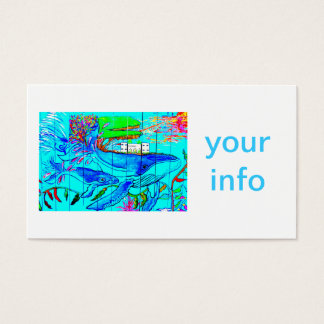humpback whales business card