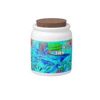 humpback whales candy jar