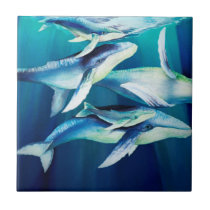 Humpback Whales Ceramic Tile