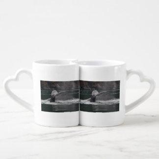 Humpback whales coffee mug set