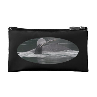 Humpback whales cosmetic bag
