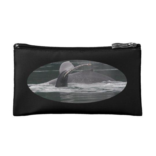 Humpback whales cosmetic bag