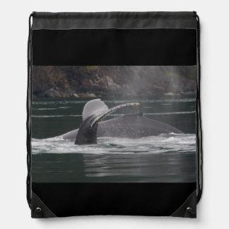 Humpback whales drawstring backpack