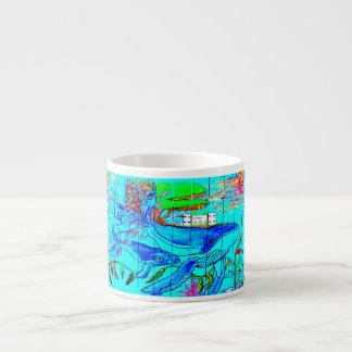 humpback whales espresso mug 6 oz ceramic espresso cup