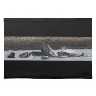 Humpback whales feeding placemat