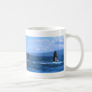 Humpback Whales Jumping Coffee Mug
