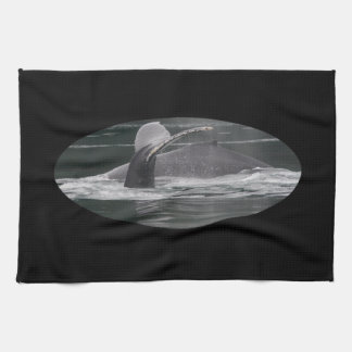 Humpback whales kitchen towels
