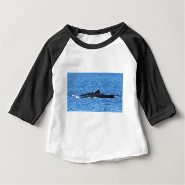 Beach Themed HUMPBACK WHALES MACKAY QUEENSLAND AUSTRALIA BABY T-Shirt