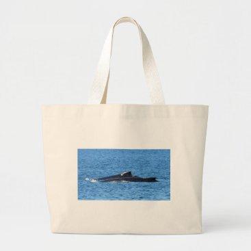 Beach Themed HUMPBACK WHALES MACKAY QUEENSLAND AUSTRALIA LARGE TOTE BAG