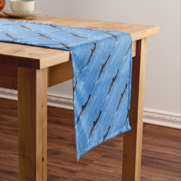 Beach Themed HUMPBACK WHALES MACKAY QUEENSLAND AUSTRALIA SHORT TABLE RUNNER