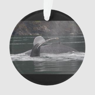 Humpback whales ornament