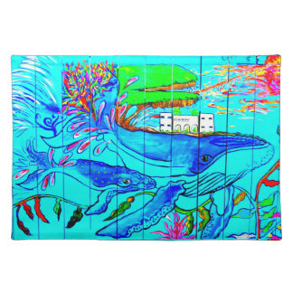 humpback whales placemat