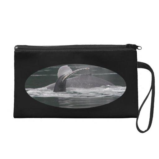Humpback whales wristlet clutch