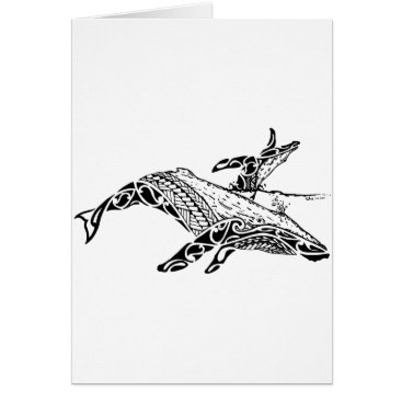 Beach Themed Humpback with baby card