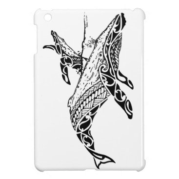 Beach Themed Humpback with baby cover for the iPad mini