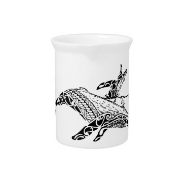 Beach Themed Humpback with baby drink pitcher