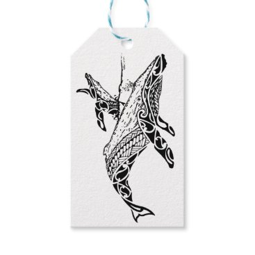 Beach Themed Humpback with baby gift tags