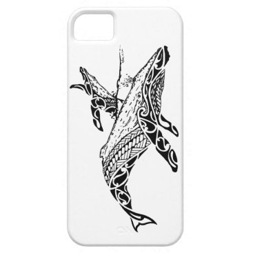 Beach Themed Humpback with baby iPhone SE/5/5s case