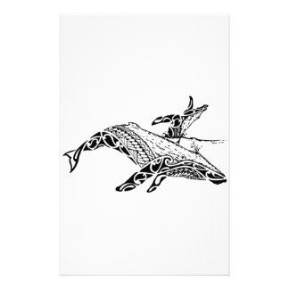 Humpback with baby stationery