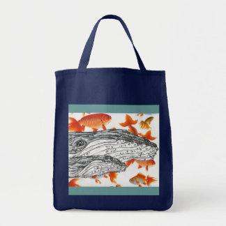 Humpbacks 02 grocery tote bag