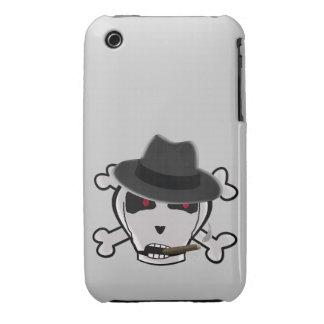 Humphrey Bonegart Skull & Crossbones Cigar Fedora iPhone 3 Cover