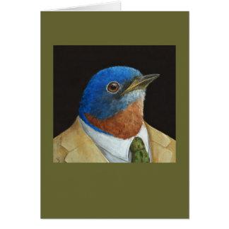 Humphrey la tarjeta ejecutiva del bluebird