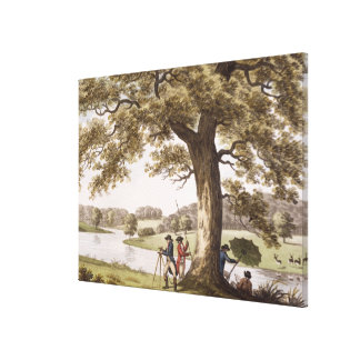Humphrey Repton surveying with a Theodolite (colou Canvas Print