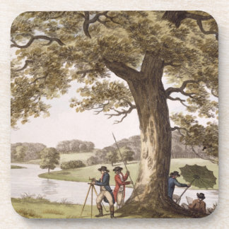 Humphrey Repton surveying with a Theodolite (colou Coaster