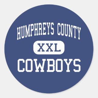 Humphreys County - Cowboys - Junior - Belzoni Round Stickers