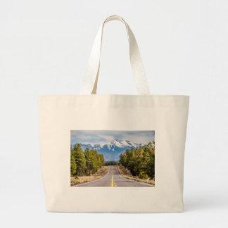 humphrey's peak mount in arizona near flagstaff large tote bag