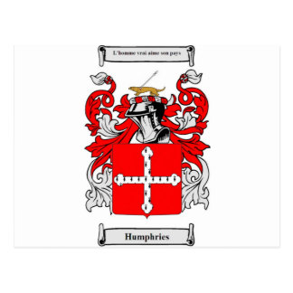 Humphrie Coat of Arms Postcard