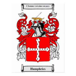Humphries Coat of Arms Postcard