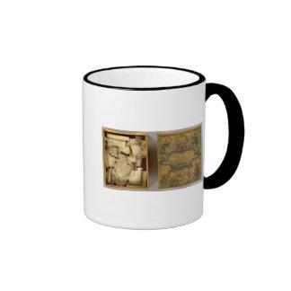 Humphries disecó el mapa del mundo taza de café