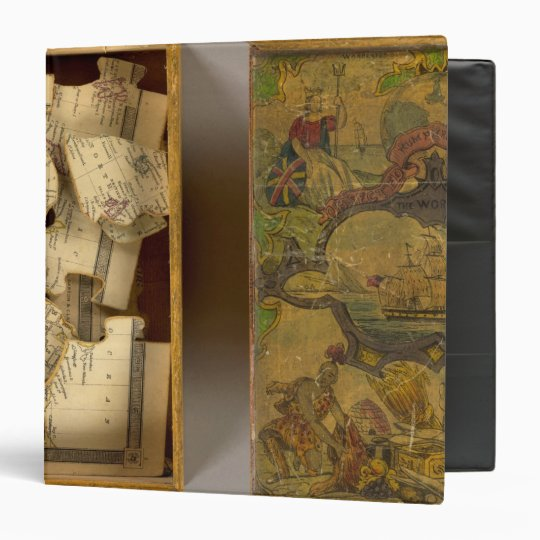 Humphries dissected world map 3 ring binder